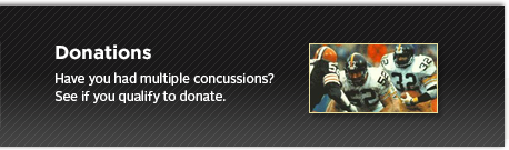 Have you had multiple concussions? See if you qualify to donate